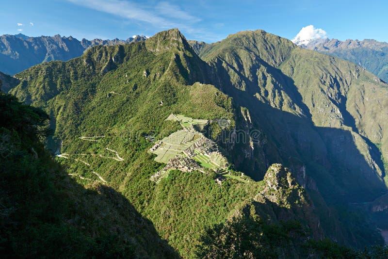 Cidade velha do picchu de Machu do Inca fotos de stock