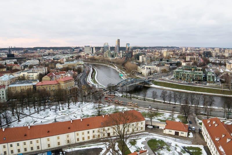 Cidade velha e nova de Vilnius fotografia de stock royalty free