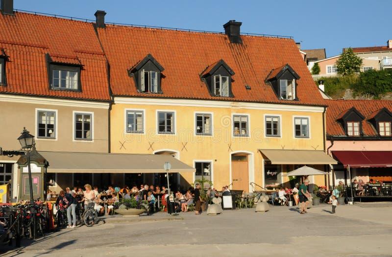 Cidade velha e pitoresca de visby foto de stock royalty free