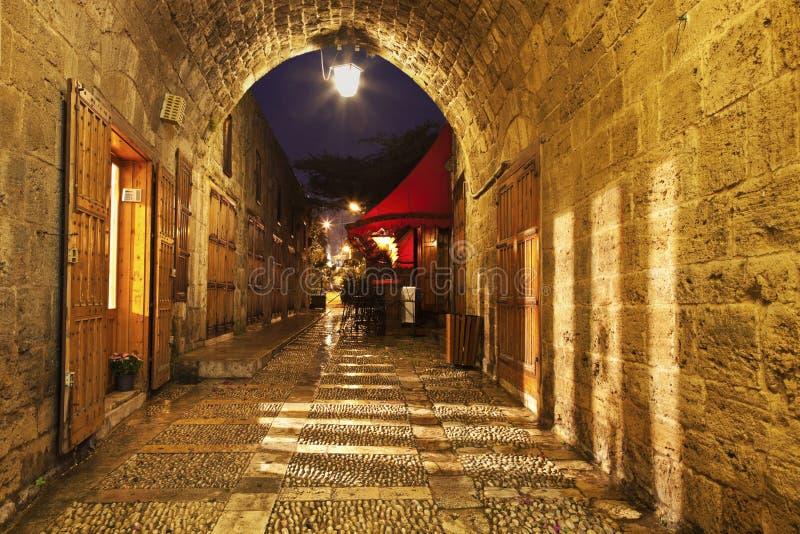Cidade velha em Byblos imagem de stock