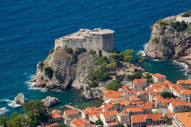 Cidade velha em Europa na costa do mar de adriático dubrovnik Croácia fotos de stock