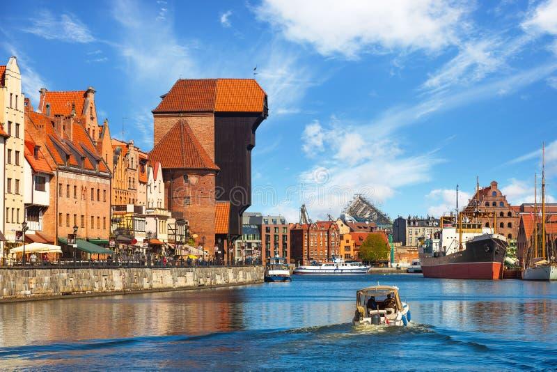 Cidade velha em gdansk foto de stock