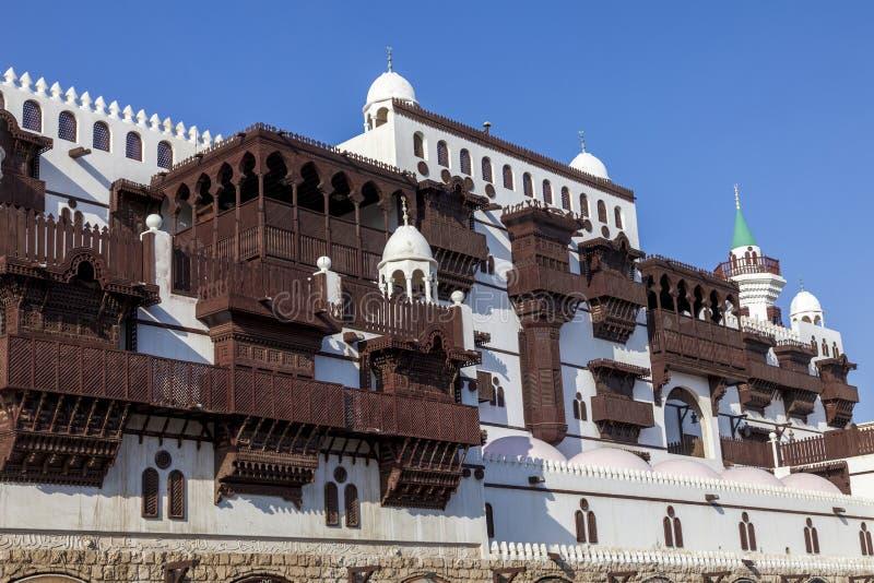 Cidade velha em Jeddah, Arábia Saudita conhecida como Jeddah histórico Velho e herança Windows e portas em Jeddah Arábia Saudita fotografia de stock