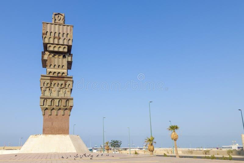 Cidade velha em Jeddah, Arábia Saudita conhecida como o ` histórico de Jeddah do ` Construções e estradas velhas e da herança em  imagens de stock