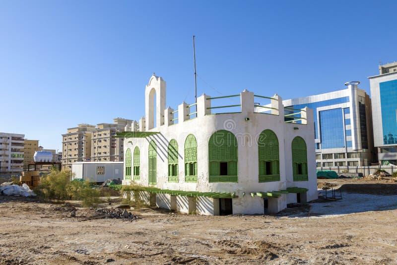 Cidade velha em Jeddah, Arábia Saudita conhecida como o ` histórico de Jeddah do ` Igreja e estradas velhas e da herança em Jedda fotos de stock