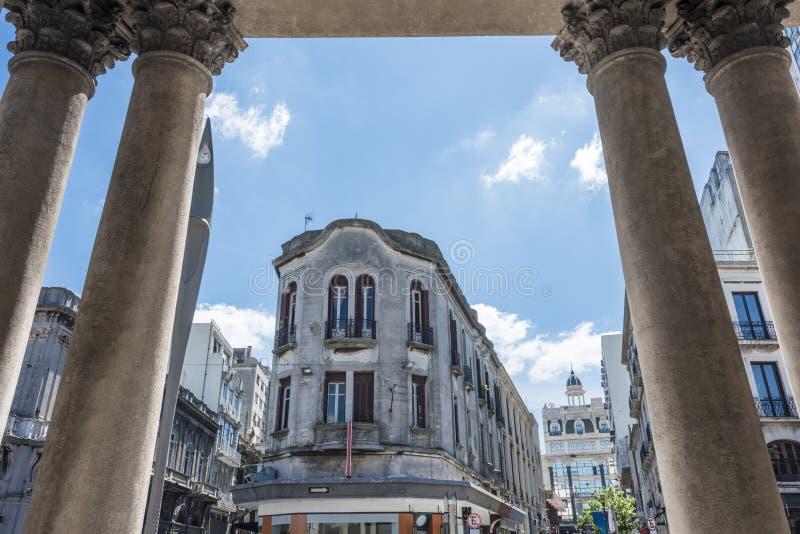 Cidade velha em Montevideo, Uruguai fotografia de stock royalty free