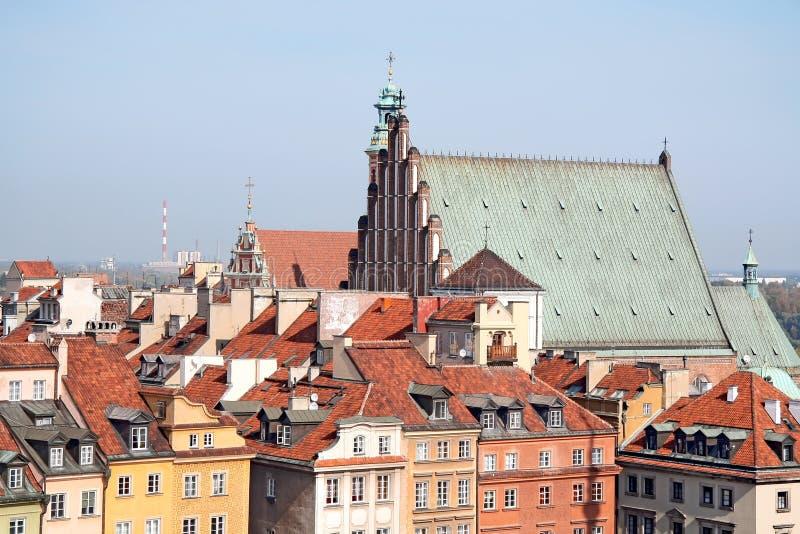 Cidade velha em Varsóvia. fotos de stock