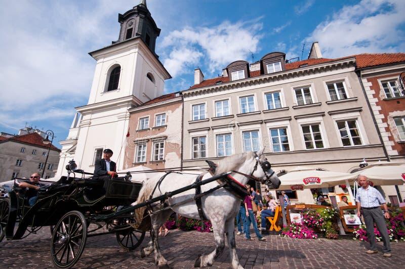 Cidade velha em Varsóvia fotografia de stock royalty free