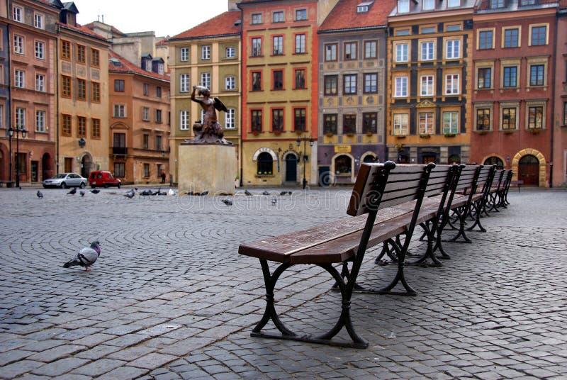 Cidade velha em Varsóvia, Poland fotografia de stock royalty free