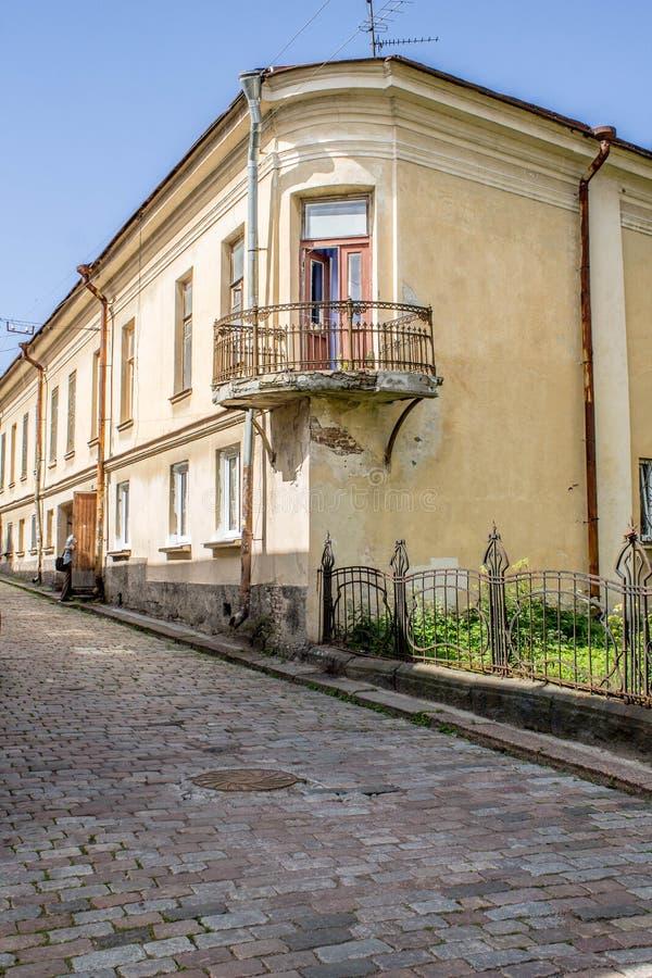 Cidade velha em Vyborg fotografia de stock royalty free