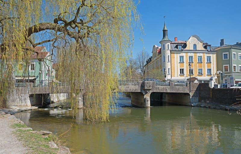 Cidade velha histórica do furstenfeldbruck do distrito de munich imagem de stock royalty free