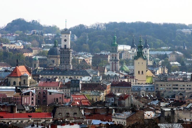 Cidade velha Lviv imagens de stock royalty free