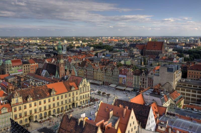 Cidade velha no Wroclaw imagem de stock royalty free