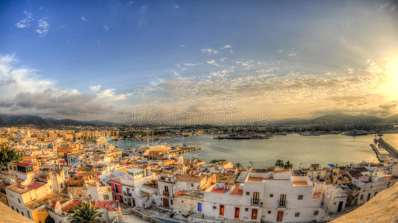 Cidade velha - porto do ibiza - Eivissa imagem de stock