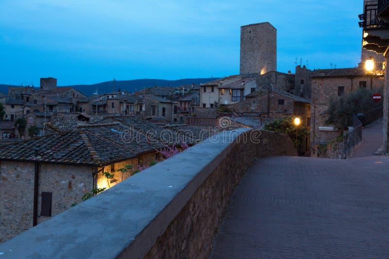 Cidade velha San Gimignano fotografia de stock