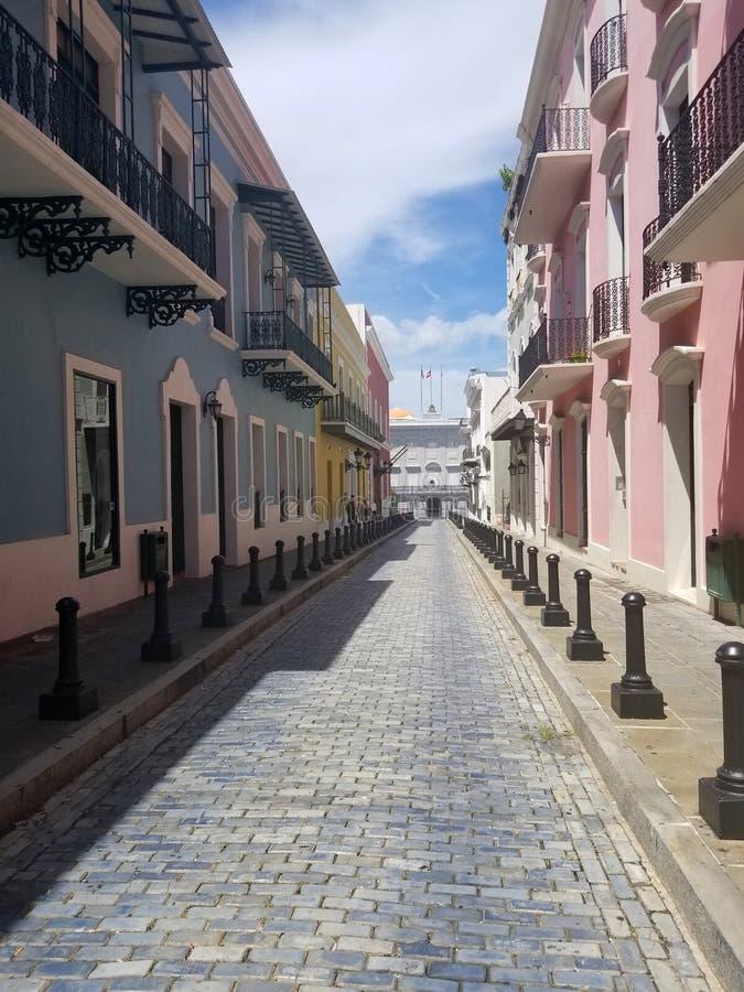 Cidade velha San Juan, Porto Rico fotografia de stock
