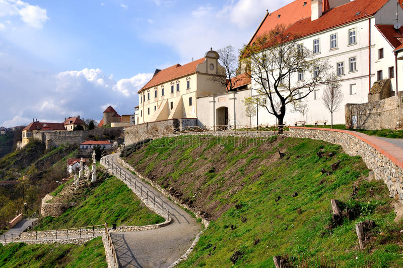Cidade velha Znojmo imagens de stock