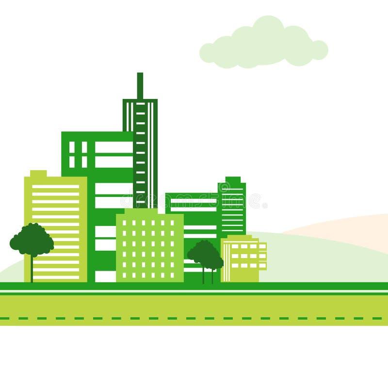 Cidade verde ilustração royalty free