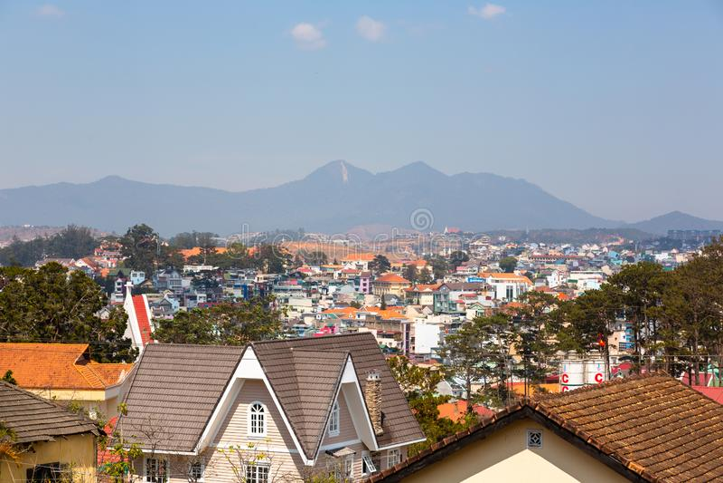 Cidade Vietname de Dalat foto de stock