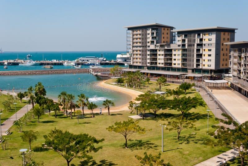 Cidade Waterfron de Darwin fotos de stock
