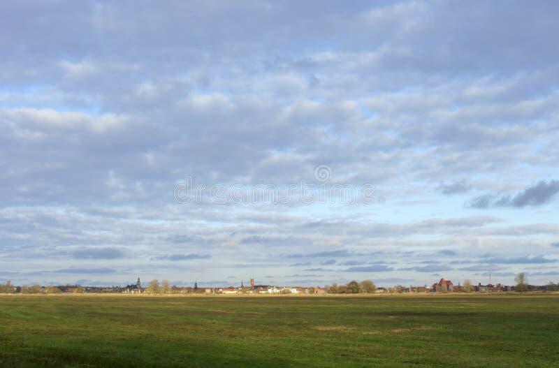 Cidade Wittenberge de Elbe foto de stock royalty free