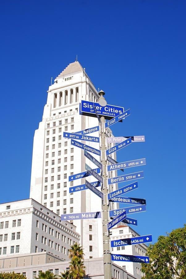 Cidades da irmã de Los Angeles imagem de stock