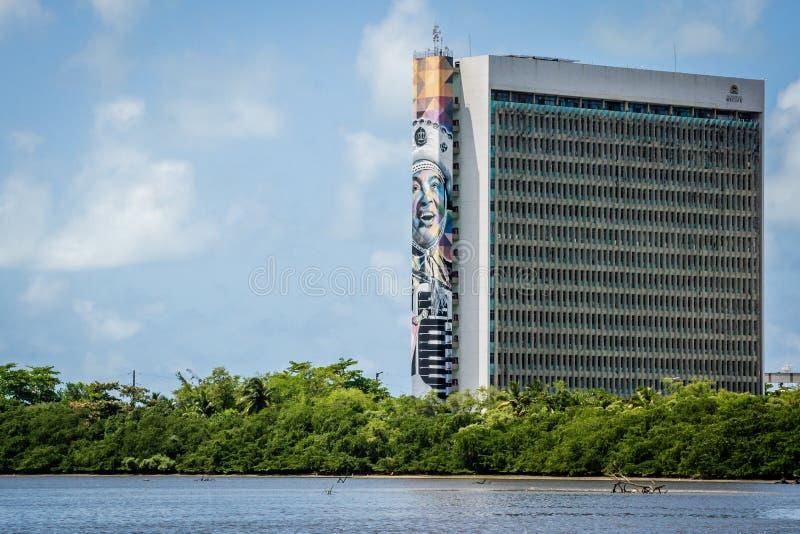 Cidades de Brasil - Recife, o capital de estado de Pernambuco fotografia de stock