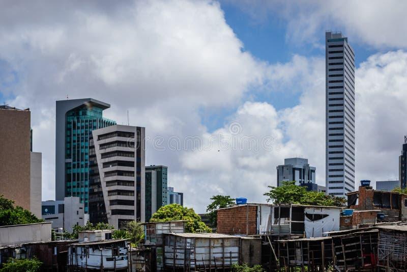 Cidades de Brasil - Recife, o capital de estado de Pernambuco foto de stock royalty free