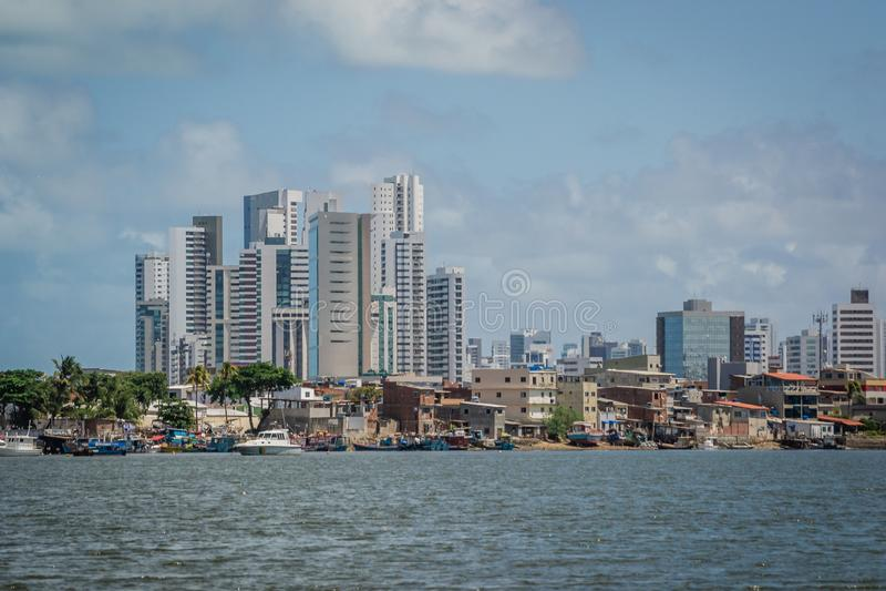 Cidades de Brasil - Recife, o capital de estado de Pernambuco fotografia de stock royalty free