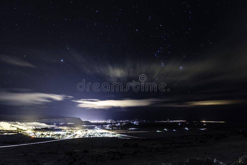 Cidades pequenas Islândia fotos de stock royalty free