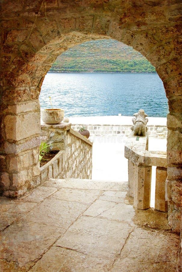Cidades velhas do Adriático foto de stock