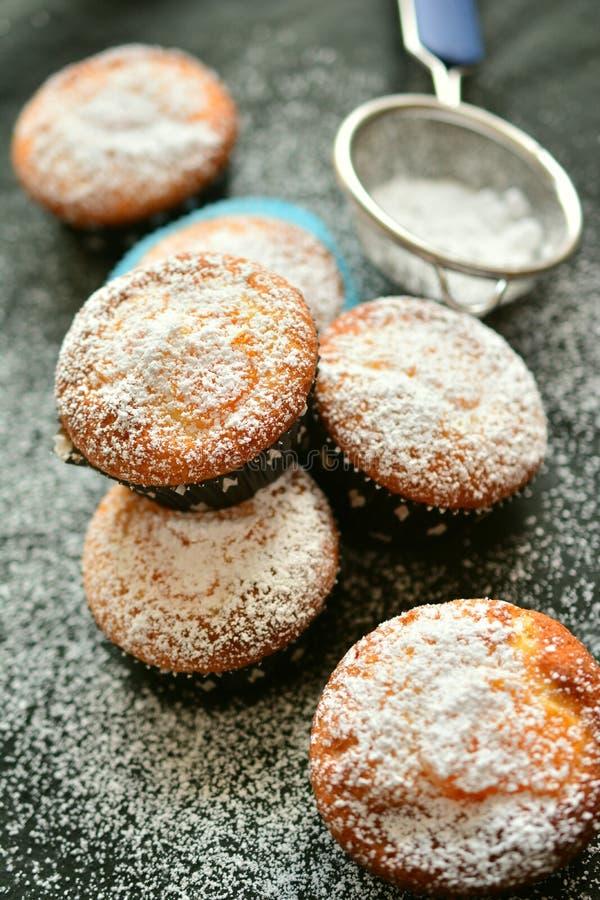 Cider Doughnut, Powdered Sugar, Baked Goods, Baking stock image