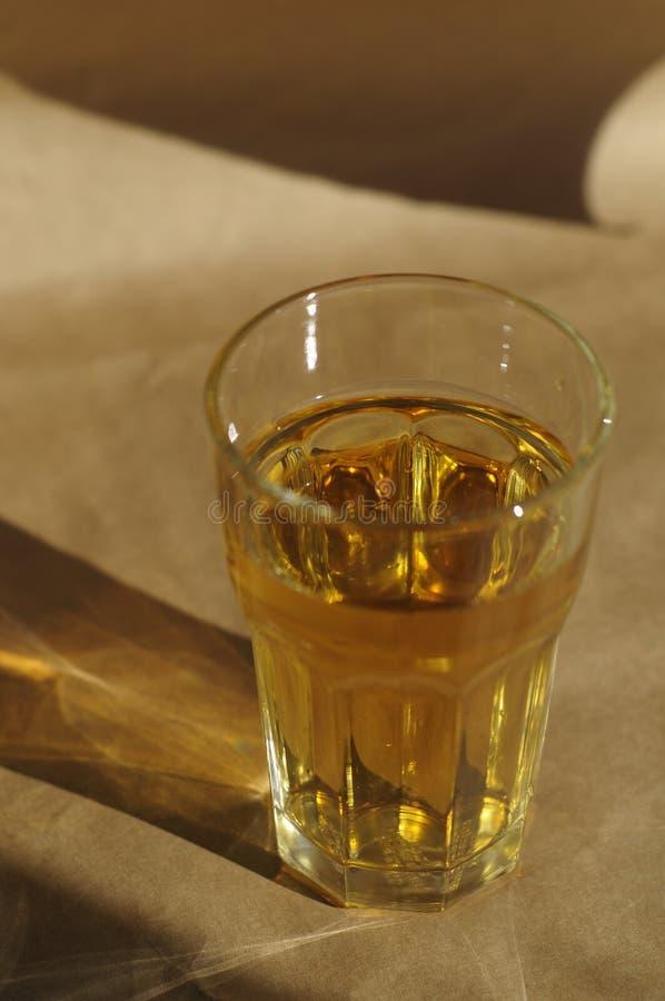 Cider in een glas stock fotografie