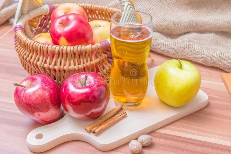 Cider - hot alcohol apple beverage.  royalty free stock images