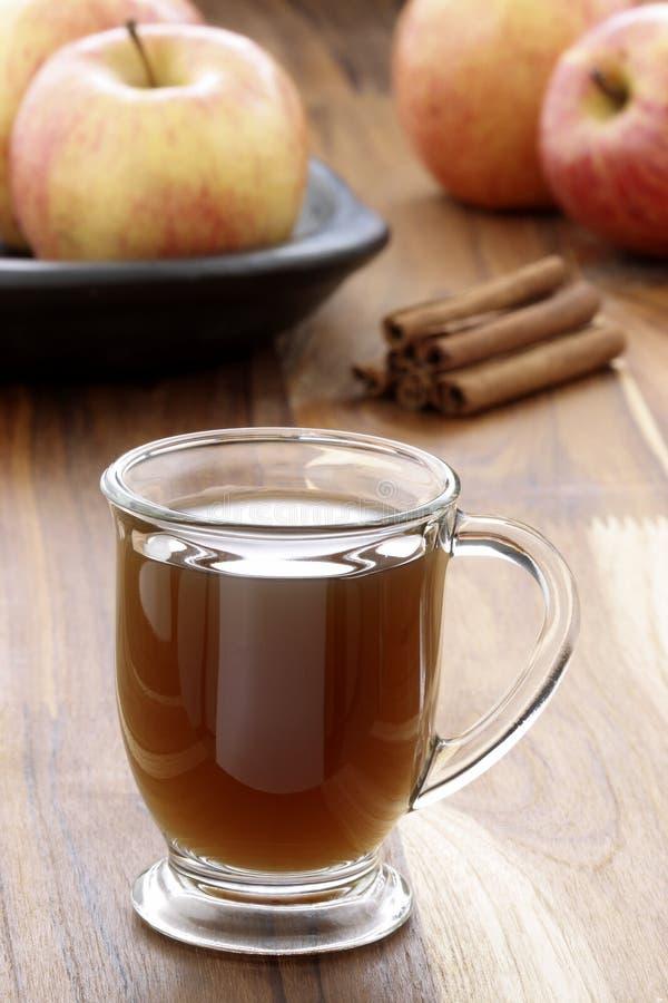 Cidra de maçã fresca quente fotografia de stock royalty free