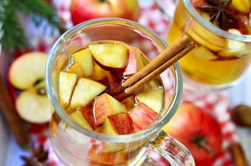 Cidra de maçã quente imagem de stock