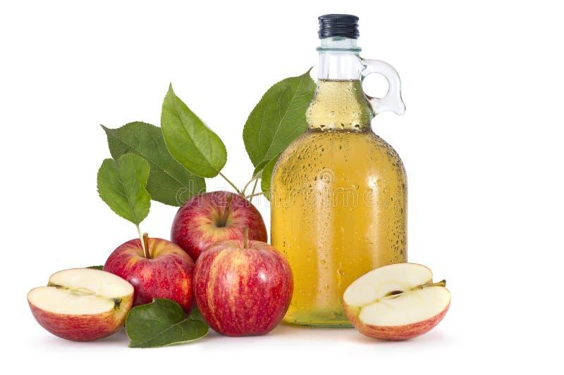 Cidra e maçãs vermelhas imagens de stock royalty free