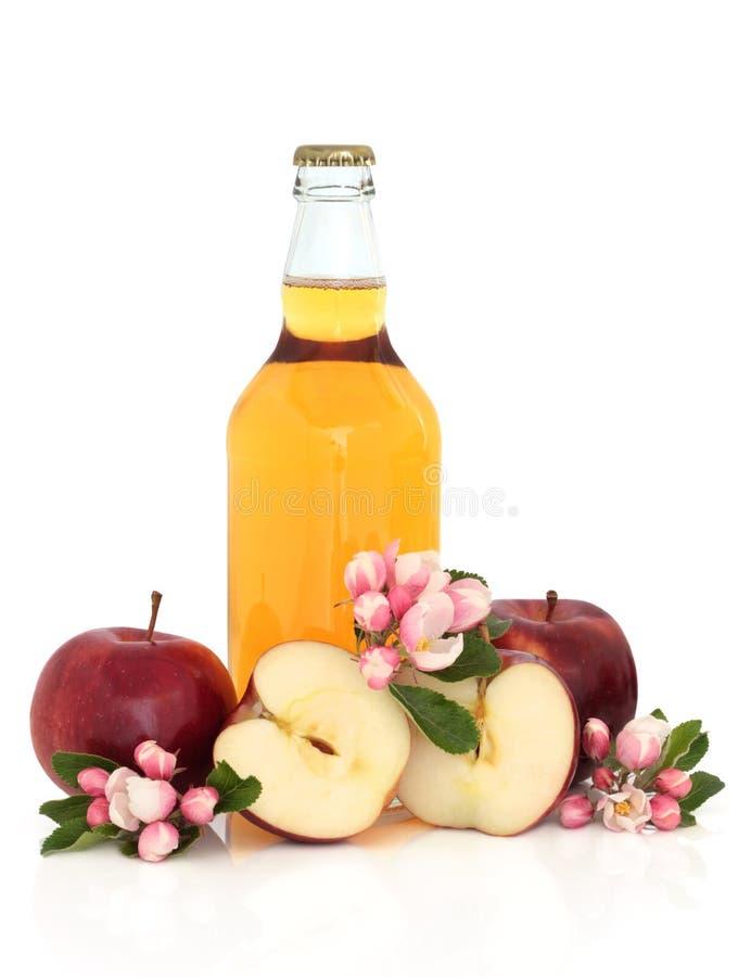 Cidra, maçãs e flor da flor fotografia de stock royalty free