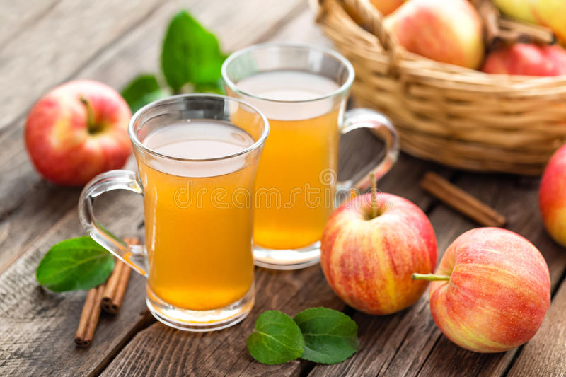 Cidre d'Apple image stock