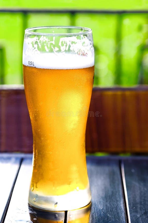 Cidre d'Apple Boisson alcoolisée dans un verre misted photographie stock libre de droits