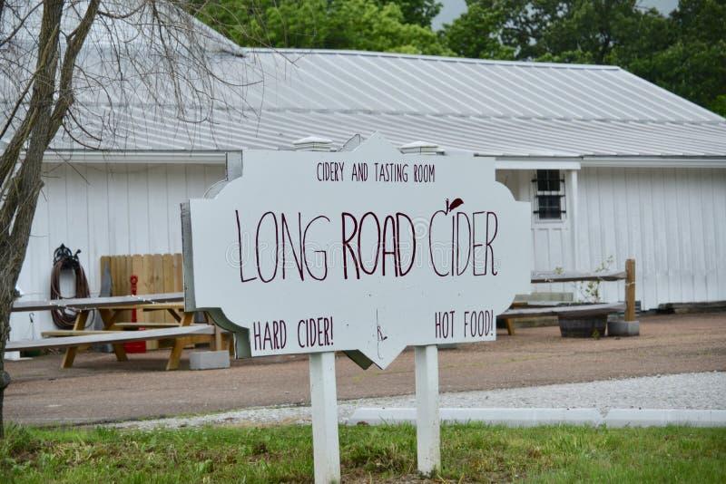 Cidre dur de nourriture chaude de cidre de longue route, Barretville, TN photo stock