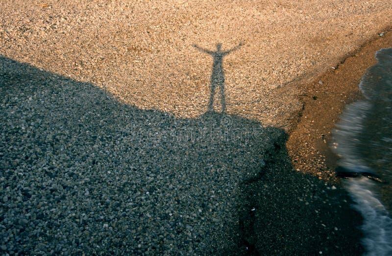 cień człowieka obrazy royalty free