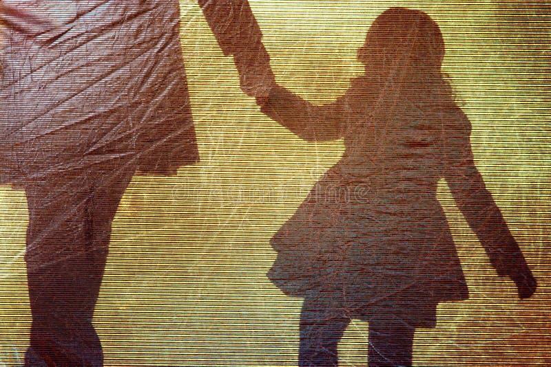 Cień dziewczyna i kobieta troszkę zdjęcie royalty free