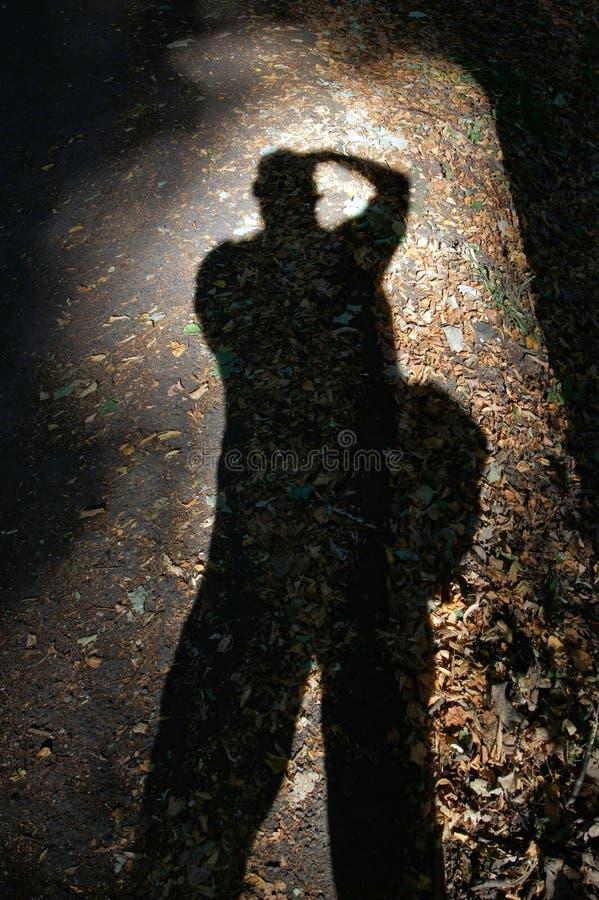 Cień fotograf zdjęcie stock