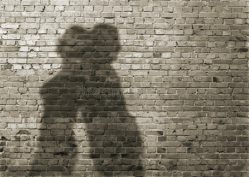 Cień mężczyzna i kobieta obraz royalty free