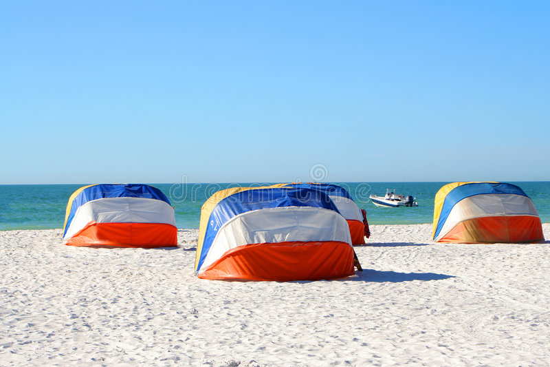 cień na plaży zdjęcie stock
