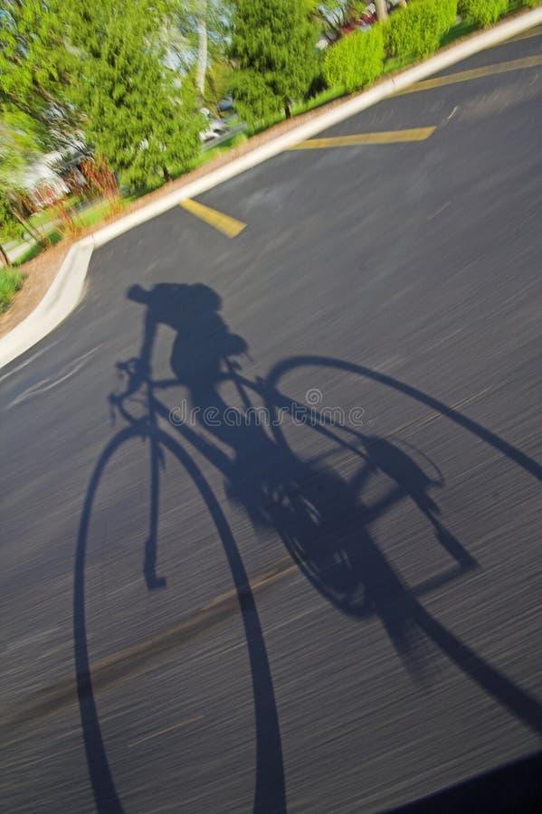 cień rower fotografia royalty free
