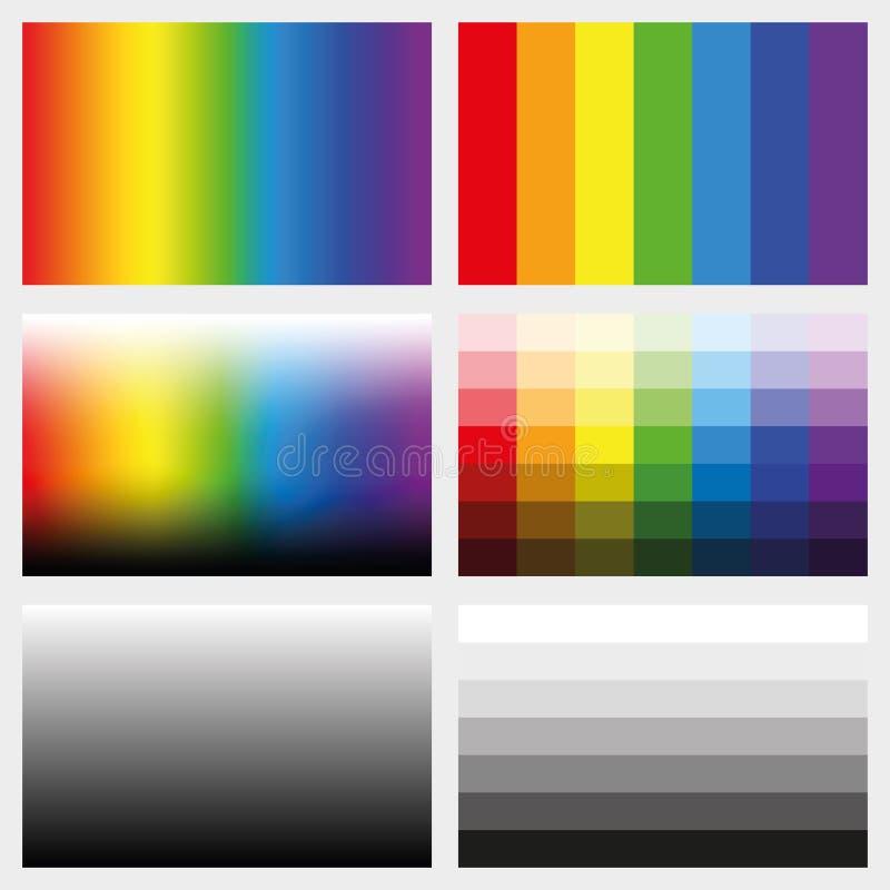 Cień zakładek koloru Grayscale gradienty ilustracji