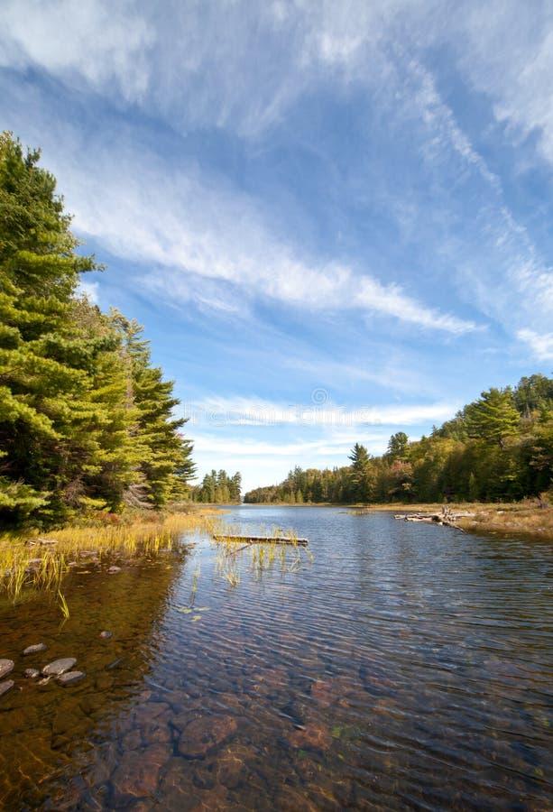 Cieśli jasna jeziora krajobrazu duktu woda