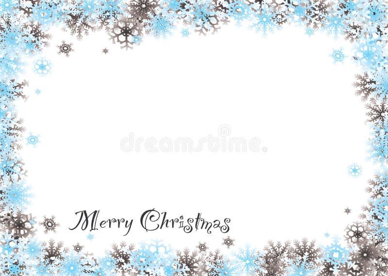 Ciechi della neve di Buon Natale royalty illustrazione gratis